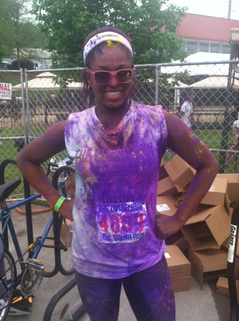 The Color Run after shot The Great Dana J Dana Jones