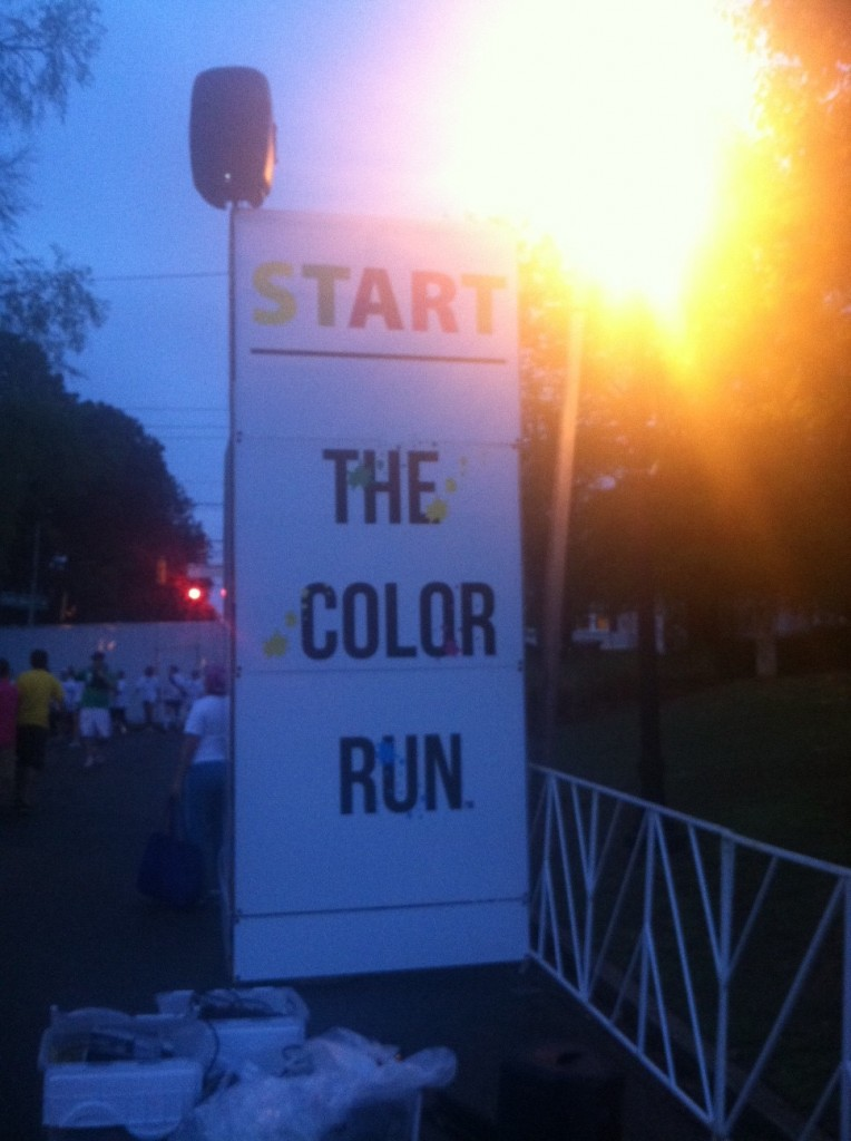 The Color Run Start Line